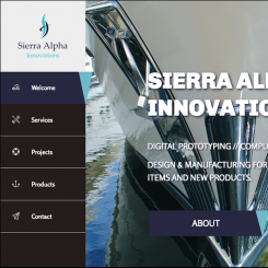 Old sierra alpha innovations site from when it was a marine design company